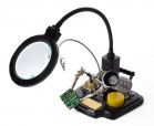 VTHHSC soldering center with helping hand + magnifier