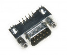 male D-Sub 9pin hq for PCB, angled  7.2mm